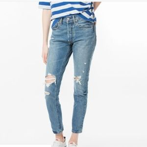NWOT Distressed High Rise 501 Levi's 29502-0008